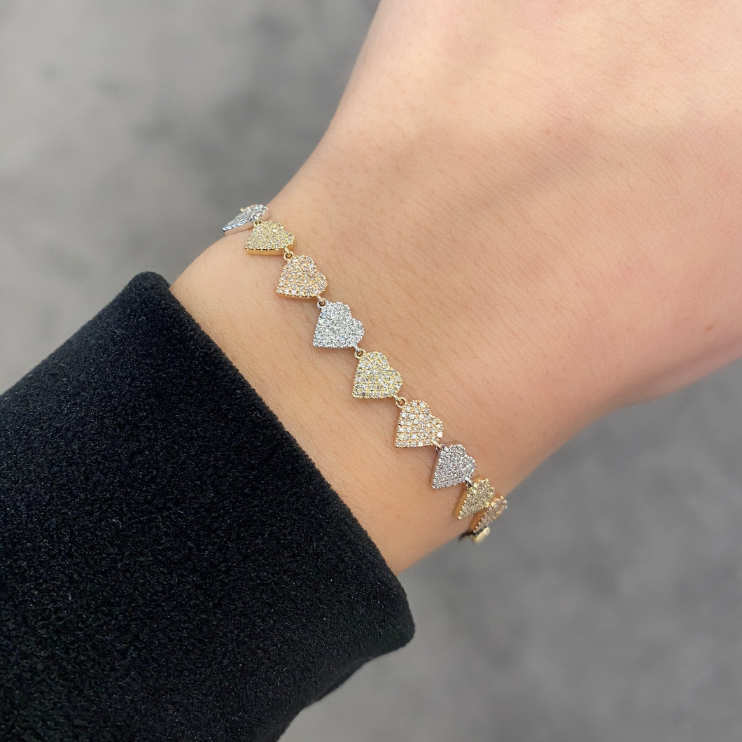 14K GOLD DIAMOND SMALL PHOEBE BRACELET