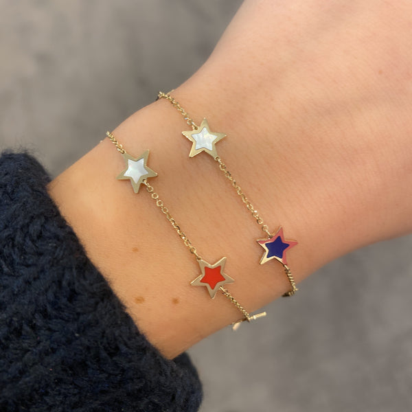 14K GOLD MEGAN STAR BRACELET
