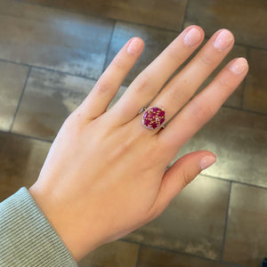 14K GOLD DIAMOND HARLOW RUBY RING
