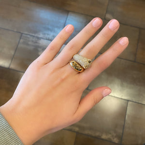 14K GOLD DIAMOND JAGUAR WRAP RING