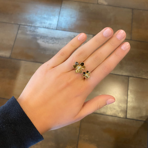 14K GOLD DIAMOND BELLA FLOWER RING