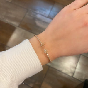 14K GOLD DIAMOND NAIL BANGLE