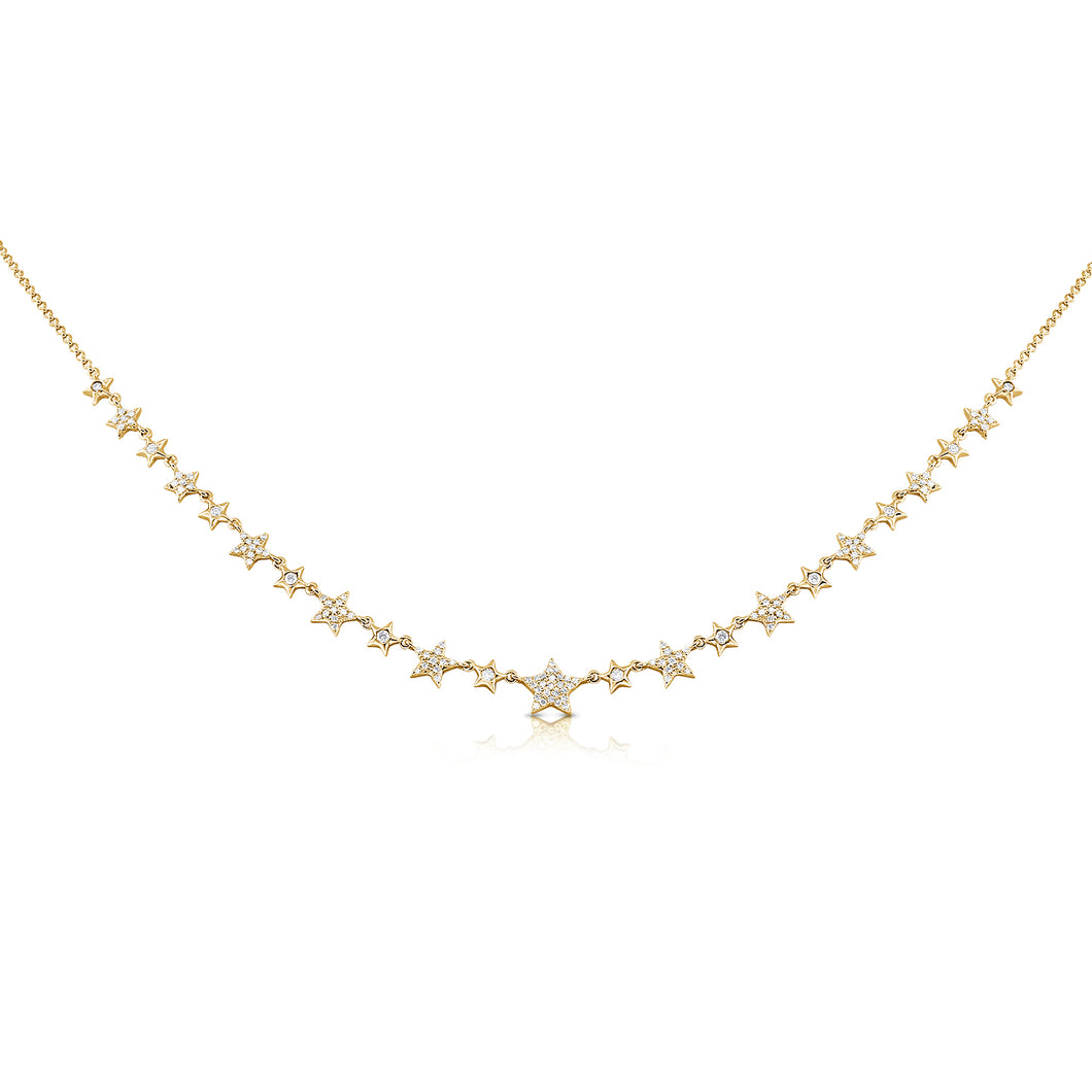 14K GOLD DIAMOND LINDSAY NECKLACE