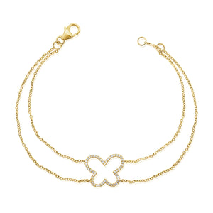 14K GOLD DIAMOND ARIANA BUTTERFLY BRACELET