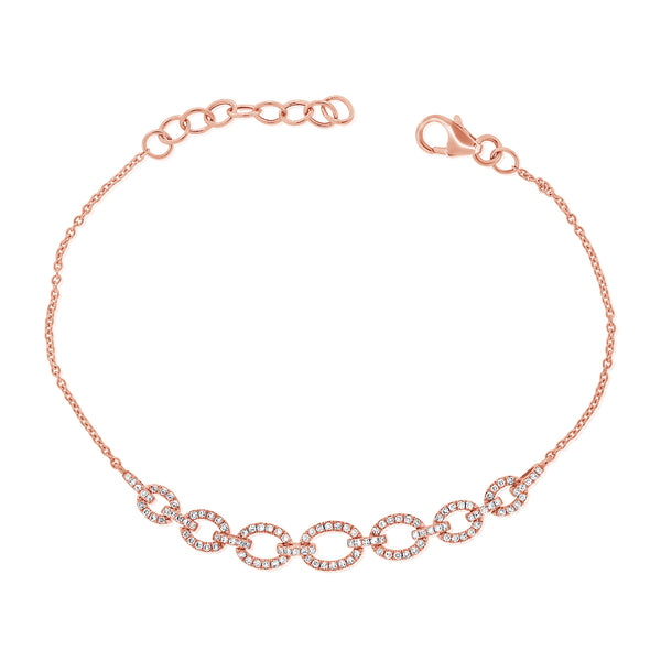 14K GOLD DIAMOND ELLA LINK BRACELET