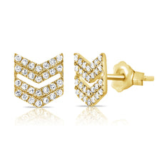 14K GOLD DIAMOND LILAH ARROW STUDS