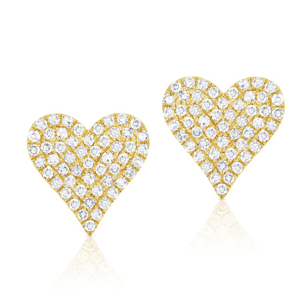14K GOLD DIAMOND LARGE JANINE STUDS