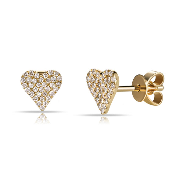14K GOLD DIAMOND SMALL JANINE STUDS