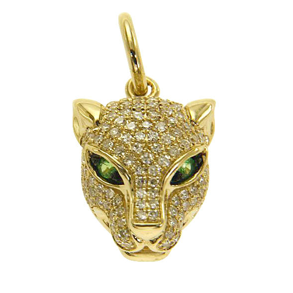 14K YELLOW GOLD DIAMOND JAGUAR CHARM