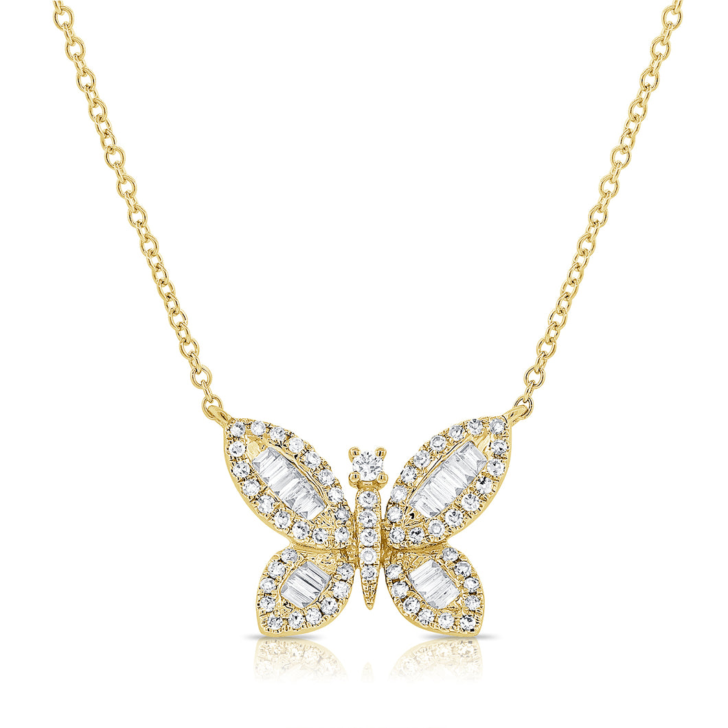 14K GOLD DIAMOND STORMI BUTTERFLY NECKLACE