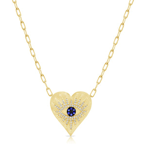 14K GOLD DIAMOND MARNIE HEART NECKLACE