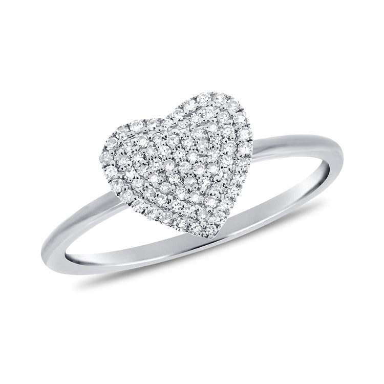 14K GOLD DIAMOND ABIGAIL HEART RING