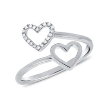 14K GOLD DIAMOND KEIRA HEART RING
