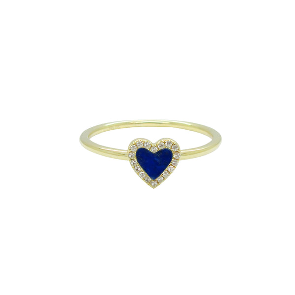 14K GOLD DIAMOND LAPIS HAILEY RING