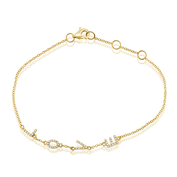 14K GOLD DIAMOND LOLA LOVE BRACELET
