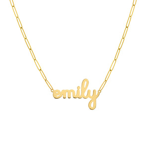 14K GOLD DOODLE NAME NECKLACE