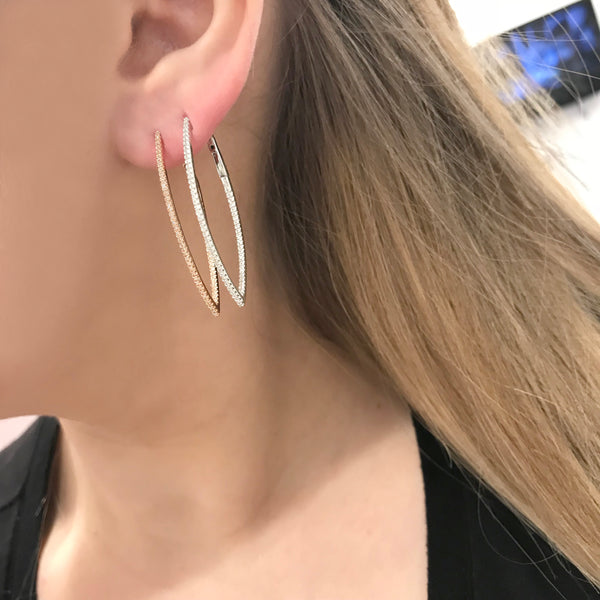 14K GOLD DIAMOND CARLY HOOPS
