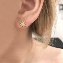 14K GOLD DIAMOND LUCY STUDS
