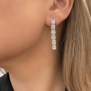 14K GOLD DIAMOND HAYDEN EARRINGS