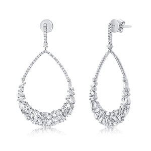 14K GOLD DIAMOND MIRANDA EARRINGS