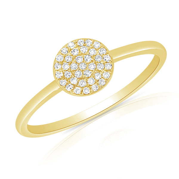 14K GOLD DIAMOND SMALL ANNIE CIRCLE RING