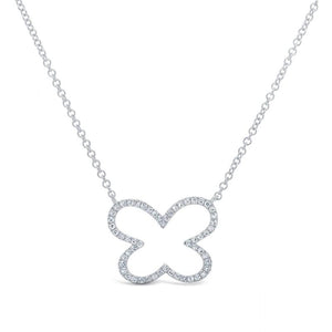 14K GOLD DIAMOND AVA OPEN NECKLACE