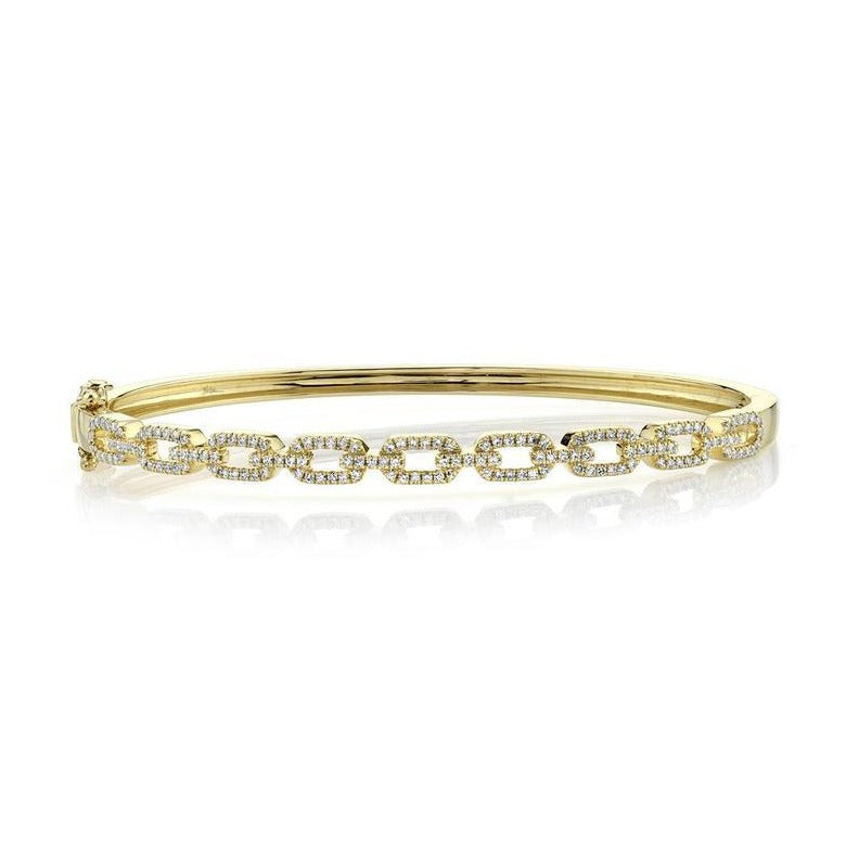 14K GOLD DIAMOND DELIA CHAIN BANGLE