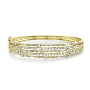 14K GOLD DIAMOND ALICE BANGLE