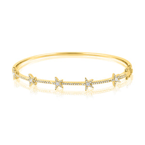 14K GOLD DIAMOND ZOEY BANGLE