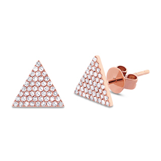 14K GOLD DIAMOND SIA STUDS