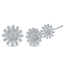 14K GOLD DIAMOND ELIZABETH EARRINGS