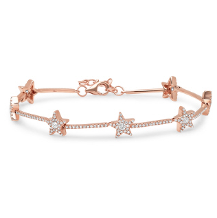 14K GOLD DIAMOND MACKENZIE STAR BRACELET