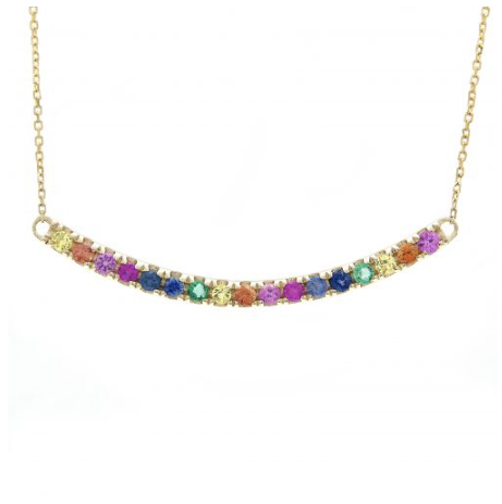 14K YELLOW GOLD RAINBOW SAMARA NECKLACE