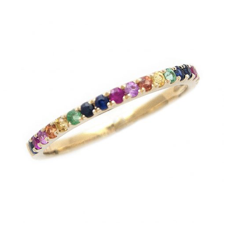 14K YELLOW GOLD RAINBOW SAMARA RING