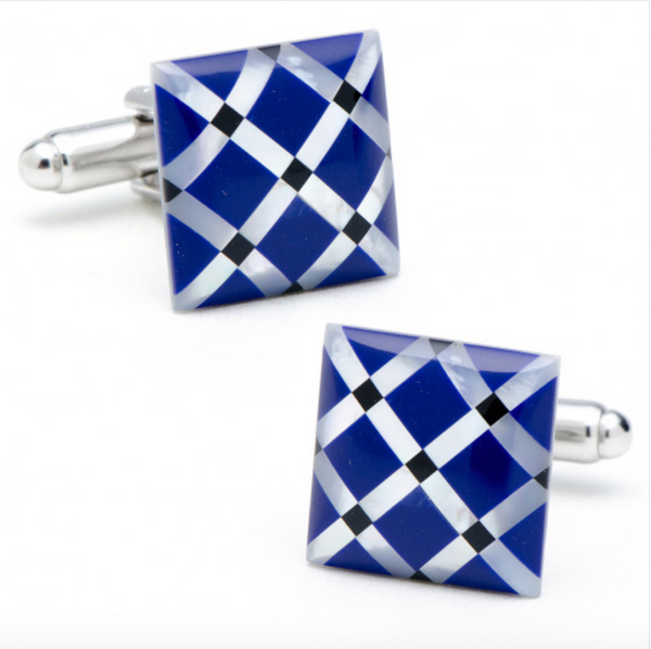 MOTHER OF PEARL X CUFFLINKS