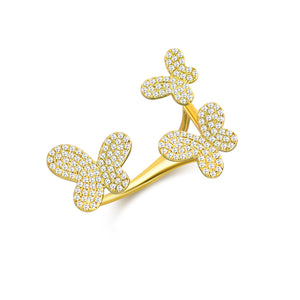 14K GOLD DIAMOND TAYLOR BUTTERFLY RING
