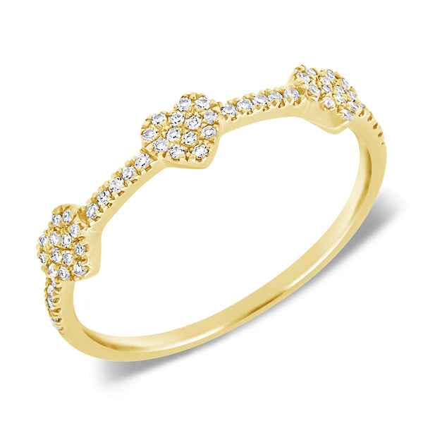 14K GOLD DIAMOND SALEX HEART RING