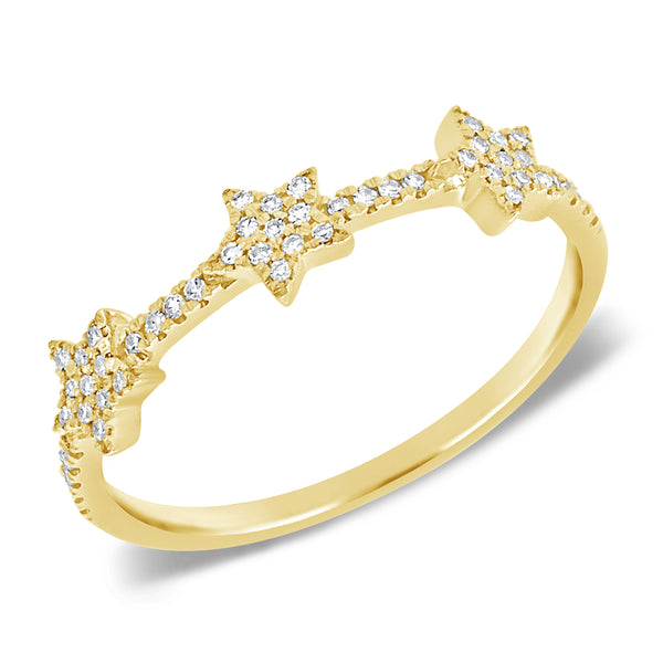 14K GOLD DIAMOND SALEX STAR RING