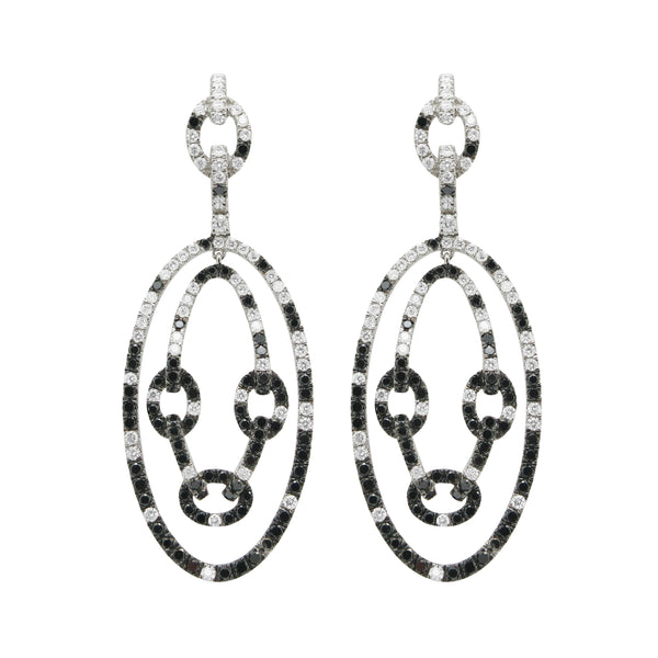 18K GOLD DIAMOND BLACK ATARA EARRINGS