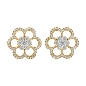 14K GOLD DIAMOND NAOMI STUDS