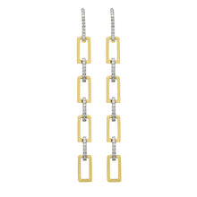 14K GOLD DIAMOND TORI CHAIN EARRINGS