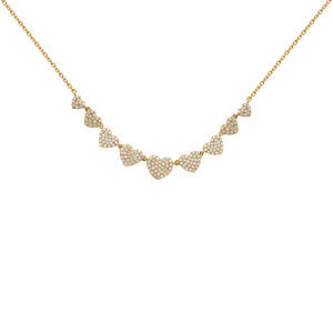 14K GOLD DIAMOND RILEY HEART NECKLACE