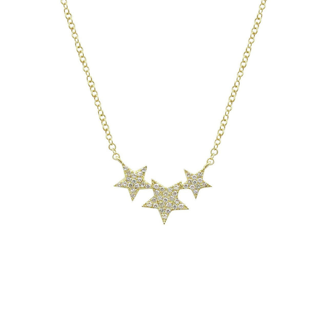 14K GOLD DIAMOND NAVA STAR NECKLACE