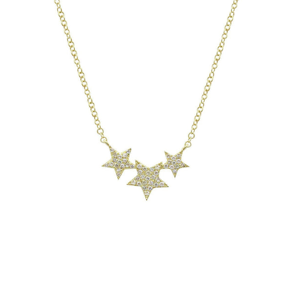 14K GOLD DIAMOND NAVA NECKLACE