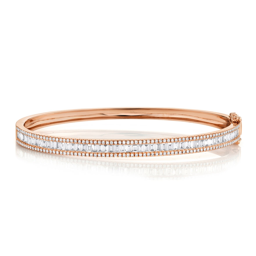 14K GOLD BAGUETTE DIAMOND NOMI BANGLE