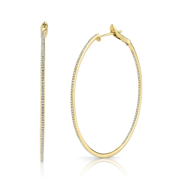14K GOLD DIAMOND VANESSA HOOPS