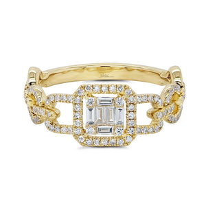 14K GOLD DIAMOND KHLOE RING