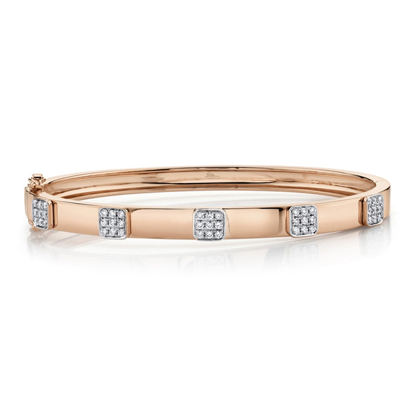 14K GOLD DIAMOND CARRIE BANGLE
