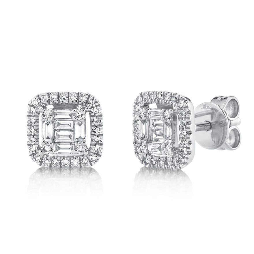 14K GOLD DIAMOND CHANTELLE EARRINGS