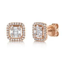 14K GOLD DIAMOND CHANTELLE STUDS